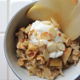 Healthy Apple Banana Bread Baked Oatmeal