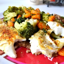 Healthy Baked Savory Tilapia Fillets