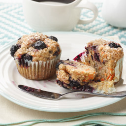 Healthy Blueberry-Carrot Muffins