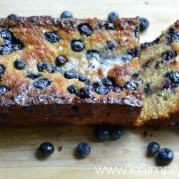 Healthy Blueberry Lemon Bread