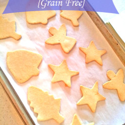 Healthy Cut Out Sugar Cookies {Grain Free and Sugar Free}