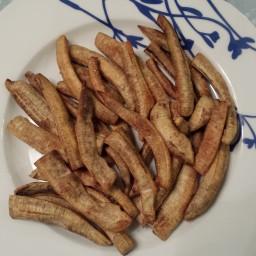 Healthy, Delicious, Easy: Baked Green Banana Fries *they taste like potato!