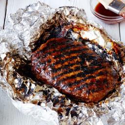 Healthy Grilled BBQ Meatloaf Foil Pack