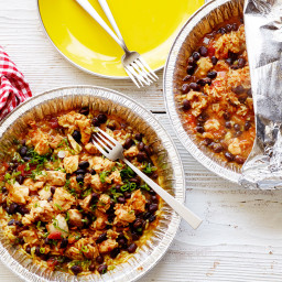 Healthy Grilled Chicken-and-Rice Foil Packs