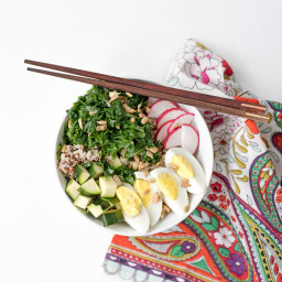 Healthy Leftovers :: Whole Grain Rice Bowls with Massaged Kale and Veggies
