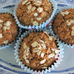 Healthy Oatmeal Muffins (No Flour No Sugar No Oil)