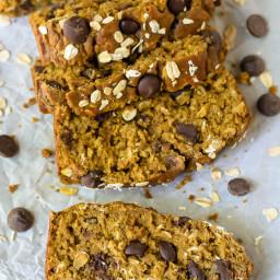 Healthy Pumpkin Chocolate Chip Bread