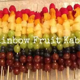 Healthy Summer Rainbow Fruit Kabobs