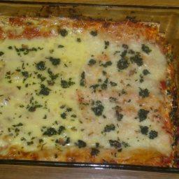 Healthy Whole Wheat Matzoh Lasagna