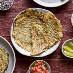Healthy Zucchini Soft Taco Shells