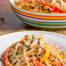 Healthy Cajun Chicken Linguine