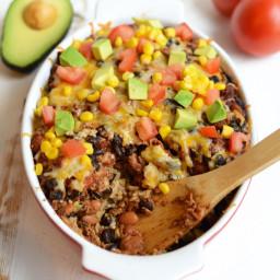 Healthy Chicken Burrito Bowl Casserole