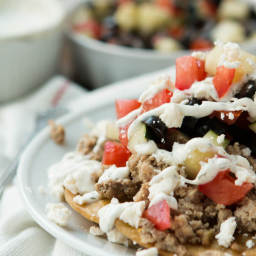 Healthy Greek Turkey Tostadas