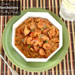 Heart Healthy Loaded Jambalaya in the Crock Pot