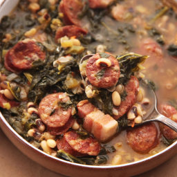 Hearty One-Pot Black-Eyed Pea Stew With Kale and Andouille