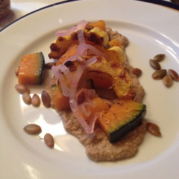 Heirloom Squash Salad with Pepita Puree