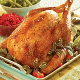 Herb-Butter Roasted Turkey with Pinot Noir Gravy