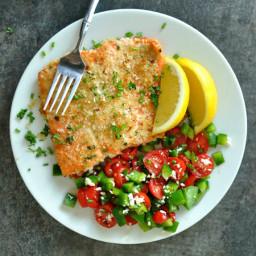 Herb-Crusted Dijon Salmon