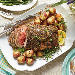Herb-Roasted Boneless Leg of Lamb