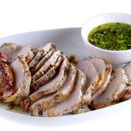 Herb-Roasted Pork Loin with Gremolata