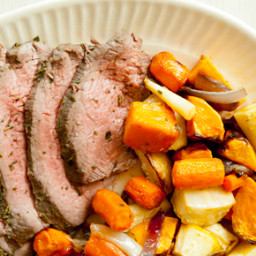 Herb-Rubbed Sirloin Tri-Tip Roast with Root Vegetables