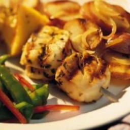 Herbed Scallop Kebabs