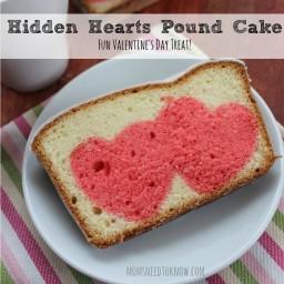 Hidden Hearts Pound Cake | Valentines Day Recipe