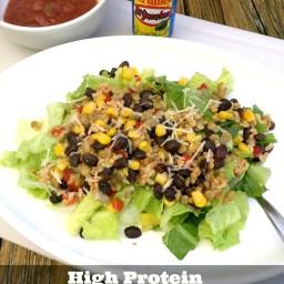 High Protein, High Fiber Southwest Salad