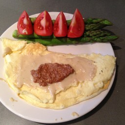 High Protein, Vanilla and Peanut Butter Omelette