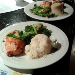 Hoisin Chicken, Garlic & Ginger Asian Veg with Rice