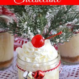 Holiday Eggnog Cheesecake in a Jar Recipe