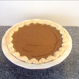 Home Thanksgiving Pumpkin Pie