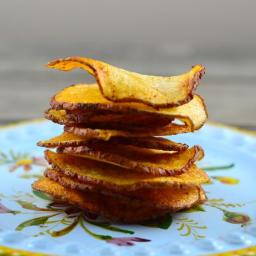 Homemade Low Calorie Potato Chips