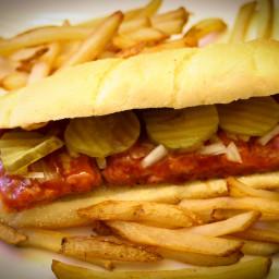 Homemade McRib Sandwich