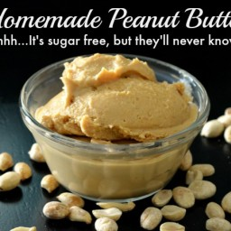 Homemade Peanut Butter {Sugar-Free and Low Sodium}