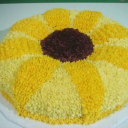 Homemade Sunflower Cake