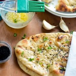 Homemade Restaurant-Style Indian Garlic Naan
