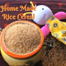 Homemade Rice Cereal Powder
