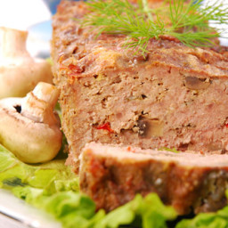 Homestyle Turkey Meatloaf with Mushrooms and White Beans