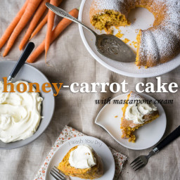 Honey-Carrot Cake with Mascarpone Cream