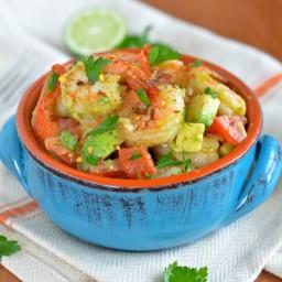 Honey Lime Shrimp and Avocado Salad