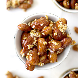 Honey Sesame Almonds