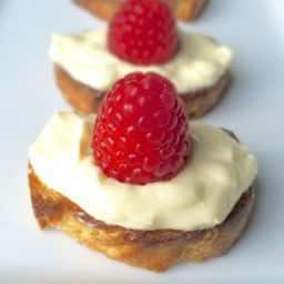 Honey and Tangerine Whipped Goat Cheese Crostini