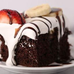 Hot Fudge Sundae Poke Cake Recipe
