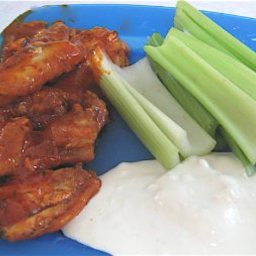 Hot n Spicy Chicken Wings with Blue Cheese