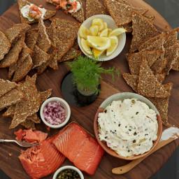 Hot-Smoked Salmon with Caper Cream Cheese