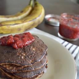 Hot cakes saludables de 3 ingredientes (sin gluten y la mezcla lista en 2 m
