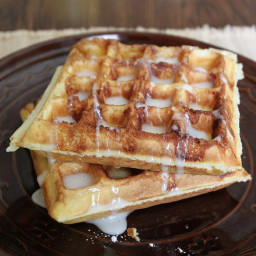 How to Make Gluten-Free Cinnamon Bun Waffles