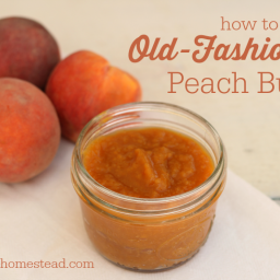 How to Make Old-Fashioned Peach Butter