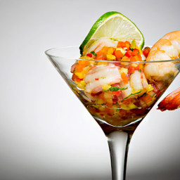 Howie's Shellfish Ceviche With Avocado and Crispy Plantains